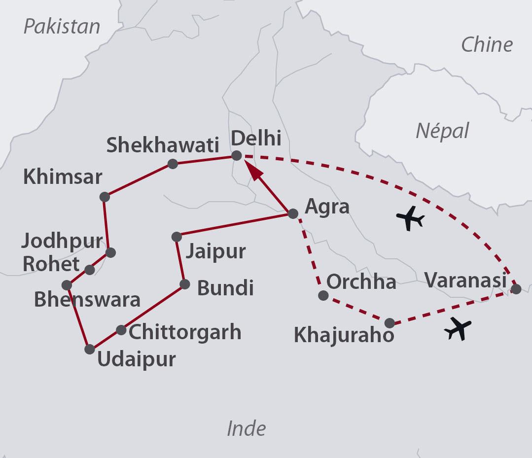 Circuit Rajasthan Intimiste Extension Vallee Du Gange