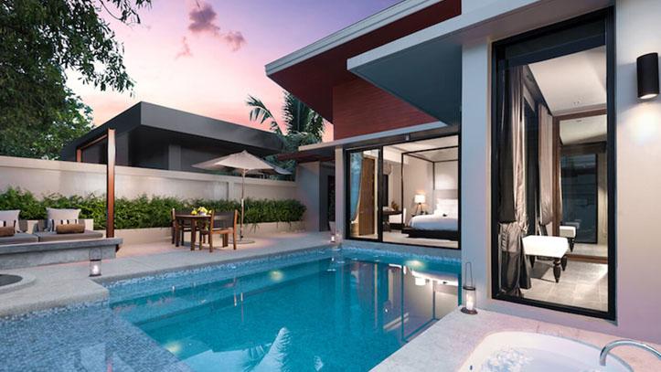 aleenta chambre piscine