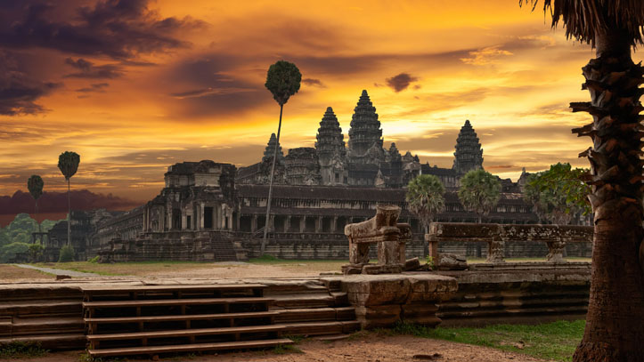 temple angkor wat a aube