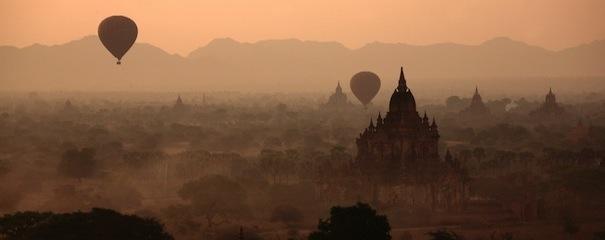 Paysage de Bagan, Birmanie