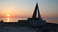 Coucher de soleil sur le Cap Soya à Wakkanai