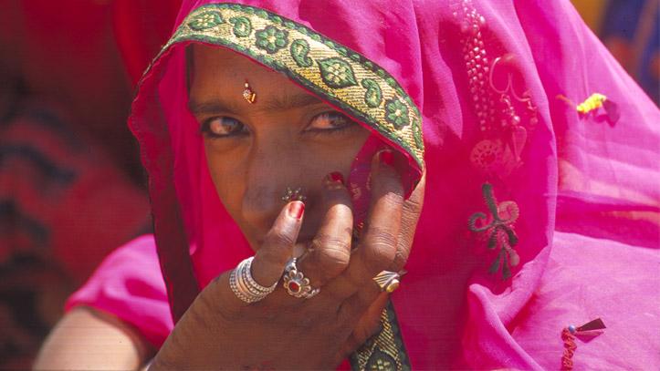 Femme rajasthan Indien