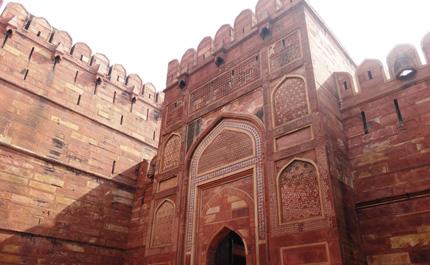 Fort-Rouge-Agra-Gange-Inde