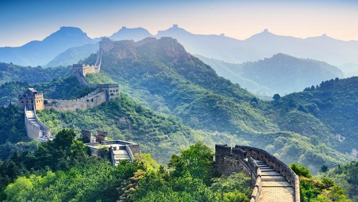 grande muraille de Chine verdure