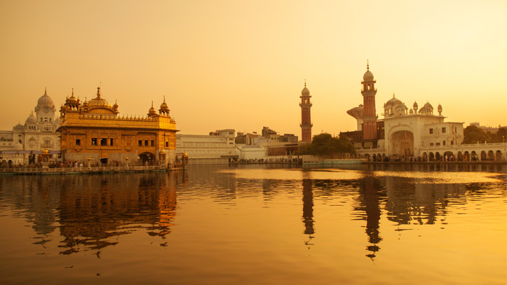 Inde-Amritsar-Temple-Or