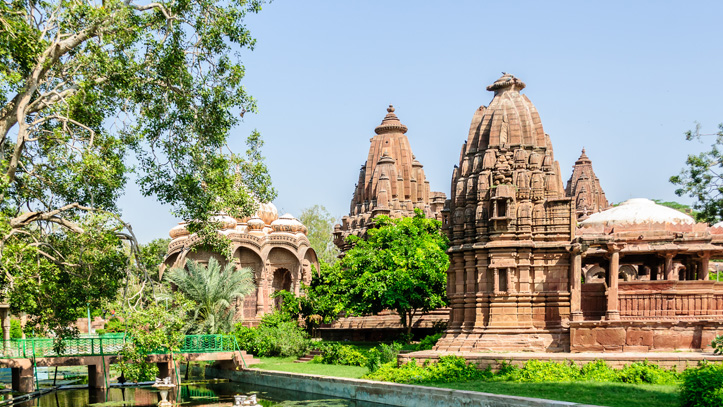 jardin de Mandor à Jodhpur