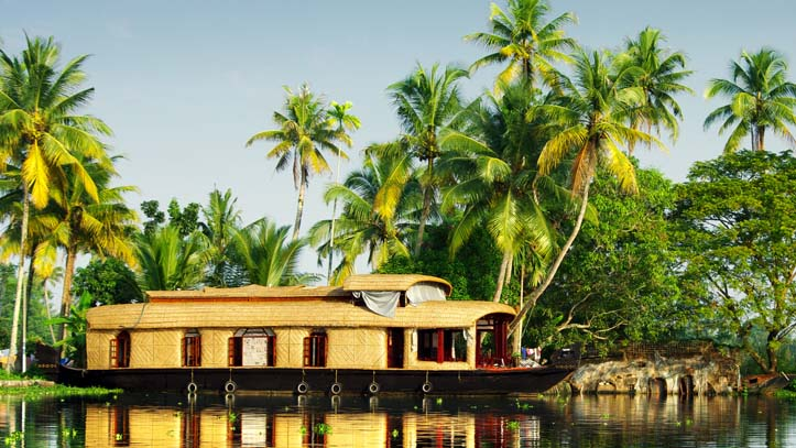 Bateau Backwaters Inde du Sud