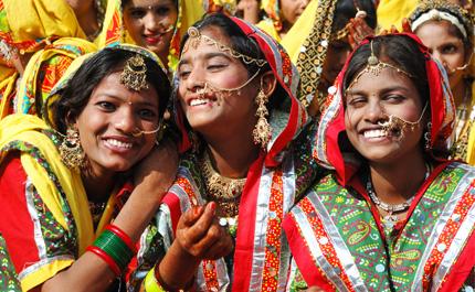 Inde-Rajasthan-Pushkar-Peuple-Femmes