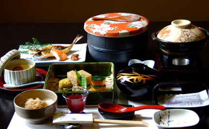 Repas typique Kaiseki