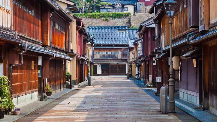 Quartier Higashi Chayagai à Kanazawa