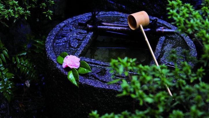 Jardin zen du ryokan Matsui Honkan
