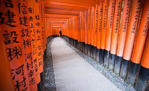 Temple Fushimi Inari Taisha au sud de Kyoto