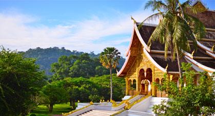 Le Haw Pha Bang, une magnifique pagode du Palais Royal de Luang Prabang