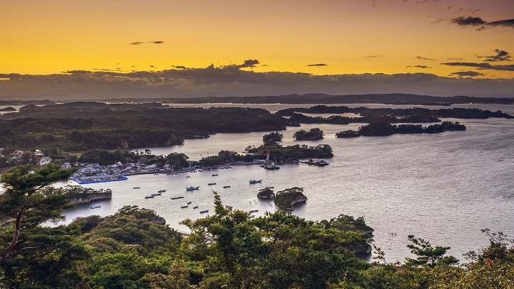 Vue sur la baie de Matsushima