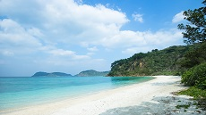 Plage de l'île Iriomote de l'archipel d'Okinawa