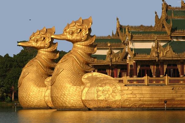 Rangoon bateau royal parc Kandawgyi