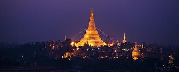Pagode dorée Rangoon Myanmar
