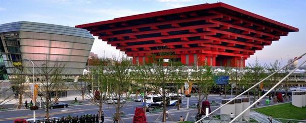 Temple rouge à Shanghai