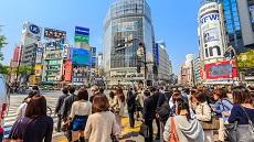 Carrefour du quartier Shibuya à Tokyo