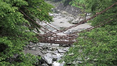 Pont Kazurabashi de la vallée d'Iya