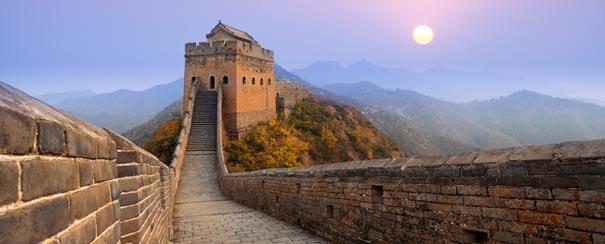 visite de la celebre grande muraille de Chine lever du soleil