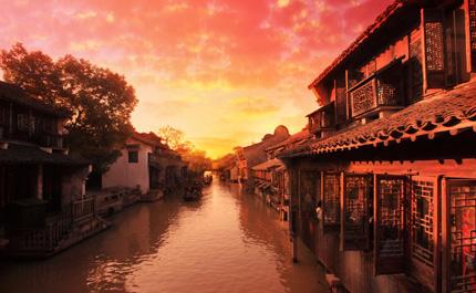 Village de l'eau Chine