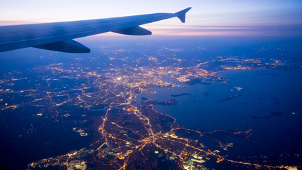 Avion depart lumières