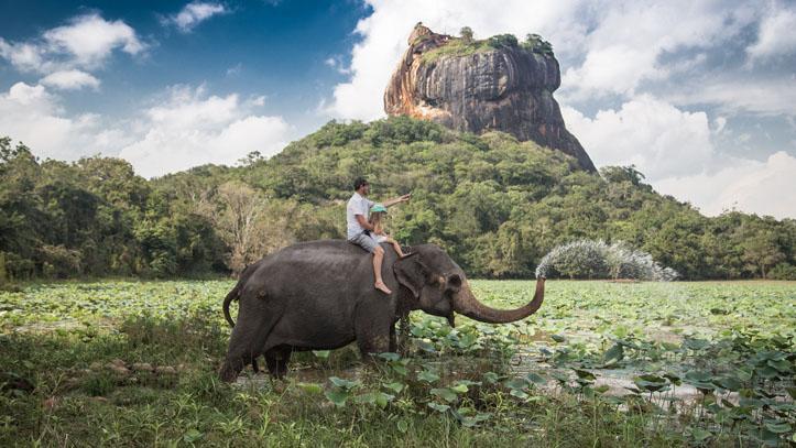 Balade elephant thailande