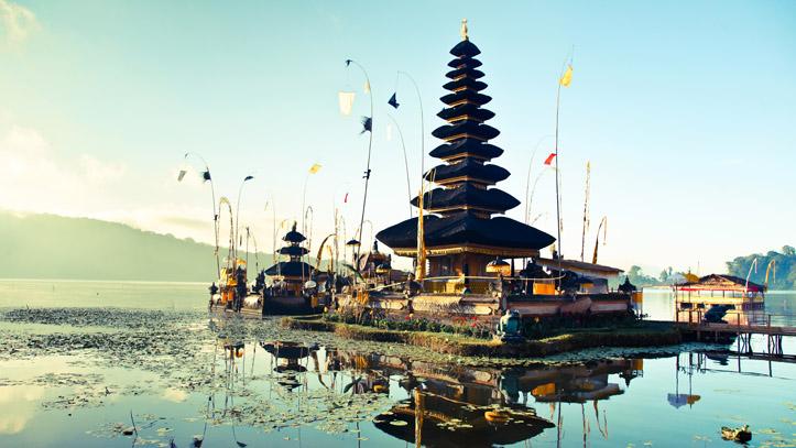 Bali Indonésie Temple Pura ulun