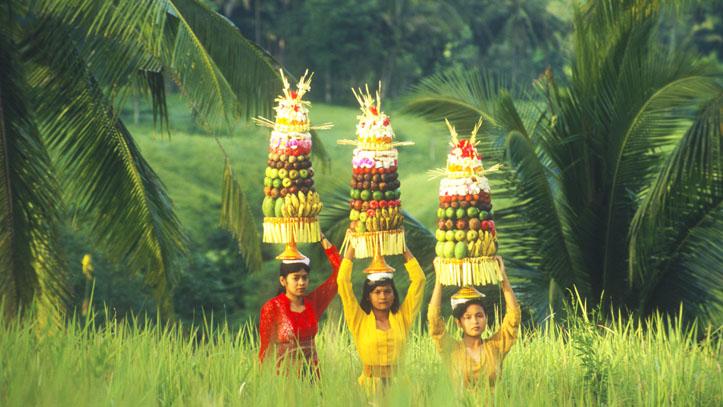 Bali Indonésiennes Corbeille fruits