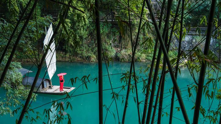 barque bambou yangtse river