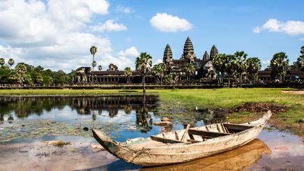 barque lac angkor wat siem reap
