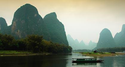 Bateau de peche Yangshuo Guilin