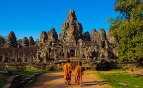 Cambodge Angkor Wat moines statues liste