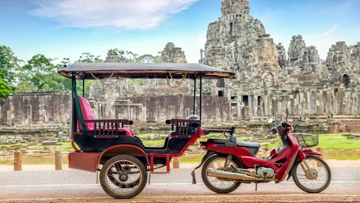 Cambodge tuk tuks
