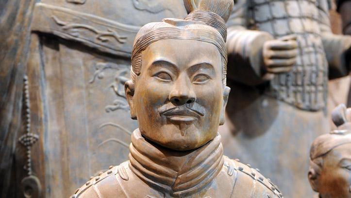 celebre figurine armee terre cuite chine