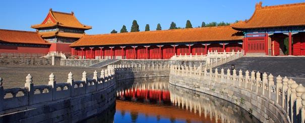 cite interdite avec ses douves et ses ponts chine pekin