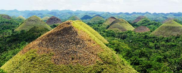 Montagnes de Chocolat aux Philippines