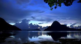 Crépuscule aux Philippines
