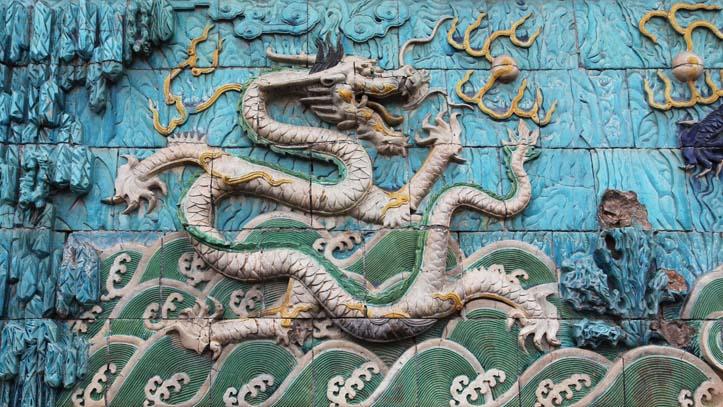 Dragon chinois mur