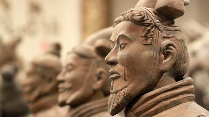 fameux guerriers terre cuite xian chine