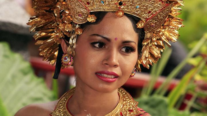 Femme indonésienne coiffe