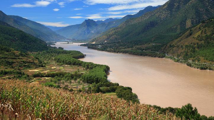 Fleuve Yangtze province yunnan Chine