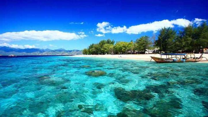 Gili ile eau turquoise