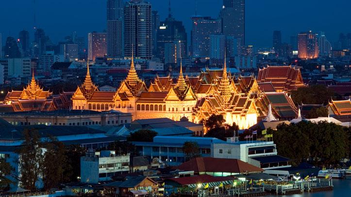 Bangkok, Grand palace au crépuscule