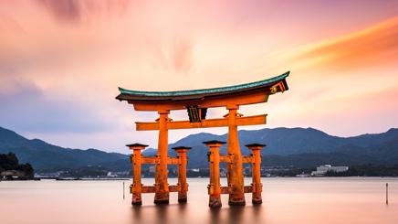 Hiroshima-miyajima-torii-japon