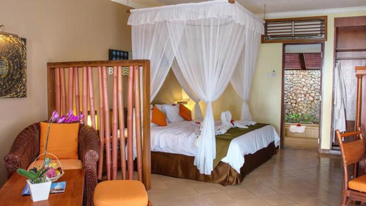 Holiday resort Lombok chambre
