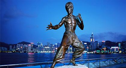 Statue de Bruce Lee à Hong Kong