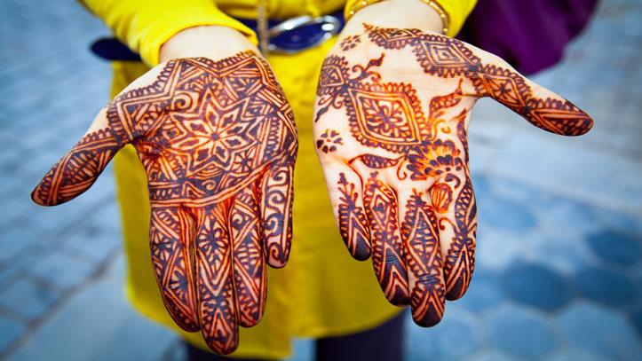 Henne traditionnel Inde fête
