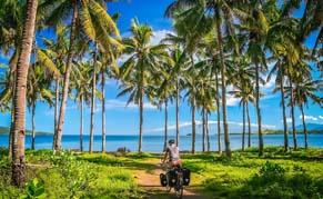 Bali Vélo Palmiers Plage